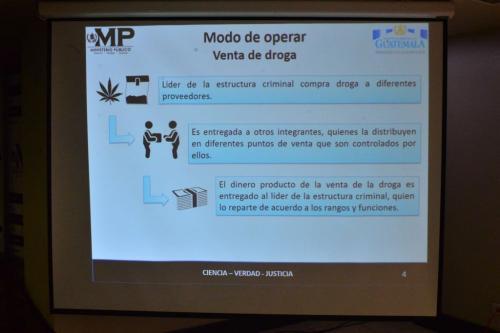 Este era el esquema operativo de la venta de drogas, según el MP. (Foto: Jesús Alfonso/Soy502)