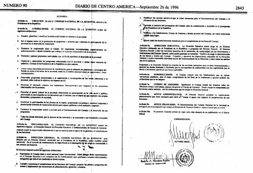 Publicación del Acuerdo Gubernativo 405–96. (Foto: Soy502)