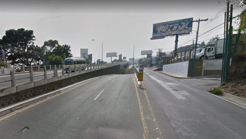 Si vas al occidente, debes tomar el paso a desnivel que lleva a San Cristóbal. (Foto: GoogleMaps)