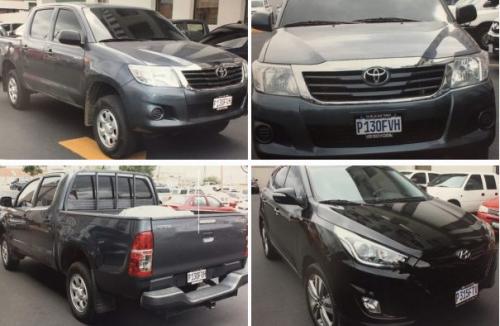 Los vehículos, modelo 2015, era propiedad de la compañía israelí, según la investigación. (Foto: MP)