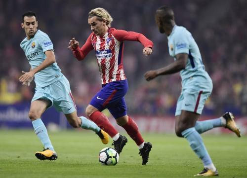 Antoine Griezmann, delantero del Atlético de Madrid, ha sido uno de los atacantes más peligrosos contra el Barcelona. Falló dos ocasiones claras de gol. (Foto: AFP)