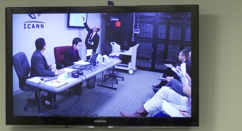 Las reuniones son grabadas y retransmitidas por streaming a todo el mundo. (Captura de pantalla video ICANN)