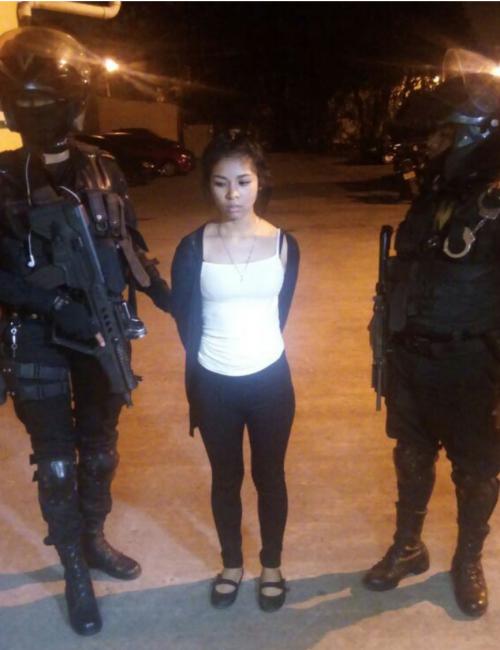 """Una joven mujer conocida como """"La China"""" fue capturada por asesinato. (Foto: PNC)"""