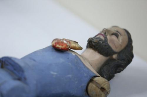El Sagrado Corazón de Jesús es parte de las piezas religiosas coloniales que se encontraban en Guatemala y pertenecen a Honduras. (Foto: Ministerio de Cultura y Deportes)