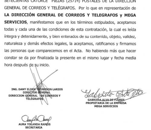 Firmas del contrato. (Foto: Soy502)