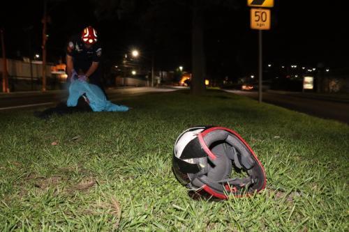 La víctima quedó en el arriate central de la ruta. (Foto: Bomberos Municipales)