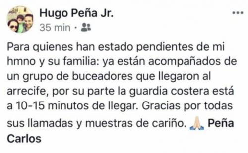 Mensaje del hermano de Carlos Peña.