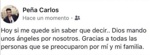 Este es el mensaje de agradecimiento de Carlos Peña.