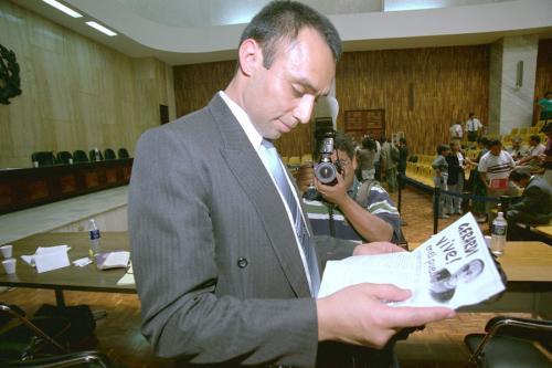 El capitán Byron Lima Oliva, en una de las audiencias del caso Gerardi. (Foto: Archivo/Nuestro Diario)