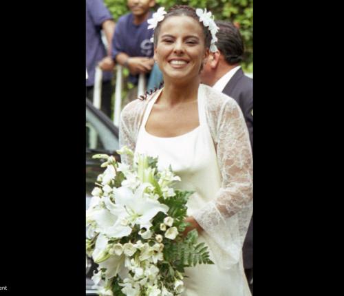 Así lucía cuando se casó. (Foto: Telemundo)