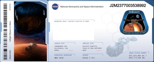 """Este es el """"boleto espacial"""" que llevará tu nombre a la superficie marciana en 2018. (Imagen: captura de pantalla)"""