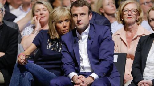 El presidente de Francia y su esposa. (Foto: Diario Uno Santa Fe)