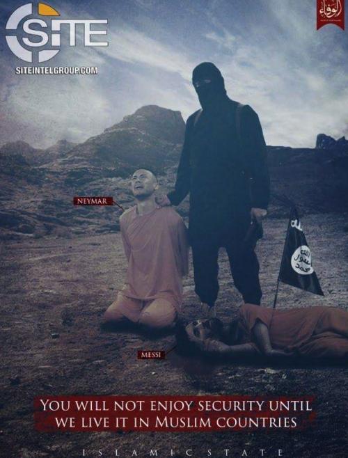 Imagen de la última amenaza del Estado Islámico. (Foto: Twitter)