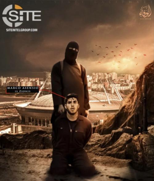 El centrocampista español Marco Asensio, también fue utilizado en las amenazas del grupo terrorista. (Foto: Infobae)