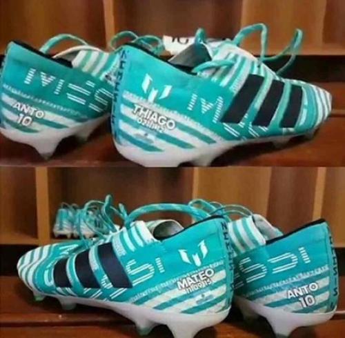 Así lucen los zapatos que Messi utilizó en el juego contra Uruguay. (Foto: Diario Sport)