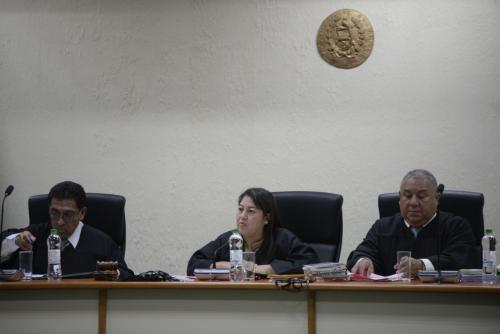 El debate oral se desarrolla en la Sala de mayor capacidad del Organismo Judicial. (Foto: Wilder López/Soy502)