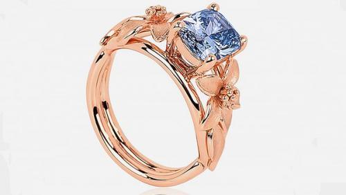 Este anillo de diamante azul es muy extraño y costoso. (Foto: infobae)