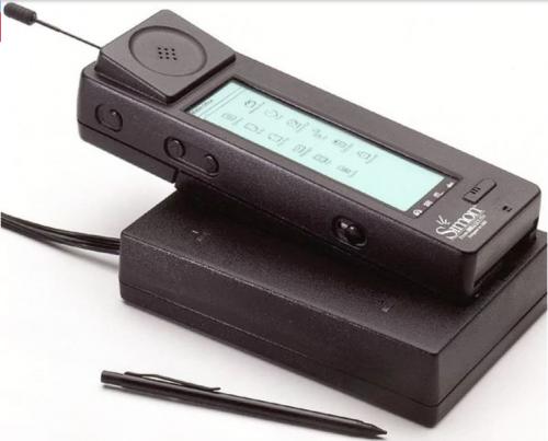 El IBM Simon, es el primer teléfono inteligente del mundo. (Foto: Infobae)