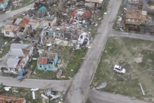 Isla de Barbuda tras el paso del huracán Irma. (Foto: Minuto uno)