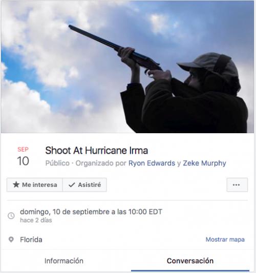 Esta es la convocatoria que fue publicada el domingo último en Facebook. (Imagen: captura de pantalla)
