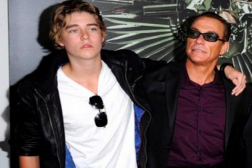 Nicholas Van Varenberg junto a su padre, el actor Jean-Claude Van Damme. (Foto: Spy News)