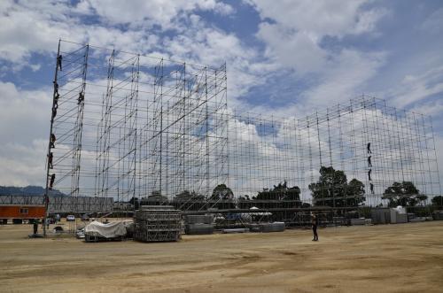 Estos son los detalles de la construcción del escenario. (Foto: Selene Mejía/Soy502)