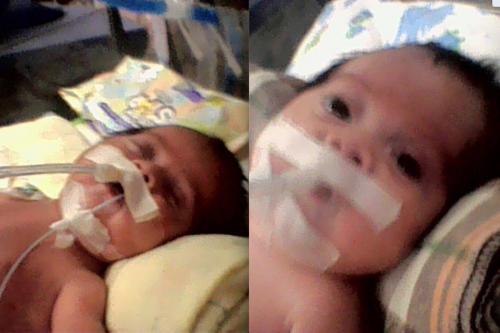 Hugo Santiago, de 3 meses y medio, nació prematuro. (Foto: cortesía)