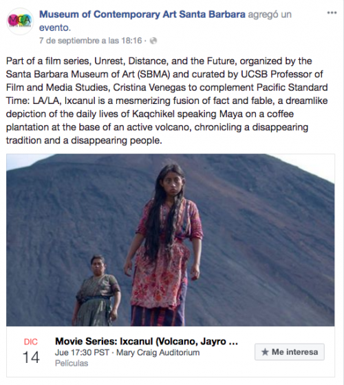 Películas guatemaltecas serán parte de esta exposición. (Foto: captura de pantalla)
