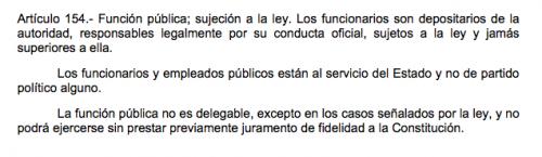 Artículo 154 de la Constitución de la República de Guatemala.