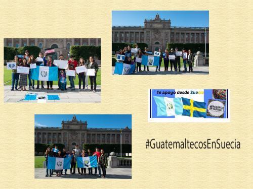 Los connacionales enviaron sus mensajes de apoyo a los guatemaltecos que se han unido a las manifestaciones.