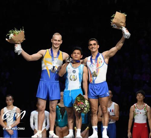 El atleta guatemalteco se impuso al poderío de los gimnastas europeos. (Foto: Fédération Française de Gymnastique)
