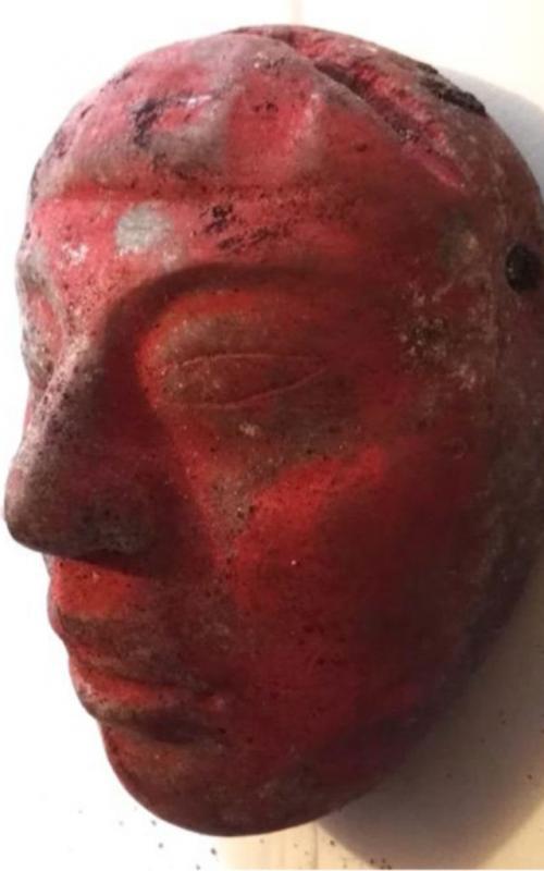 El cuerpo del rey estaba cubierta por esta máscara de jade. (Foto: Ministerio de Cultura y Deportes)
