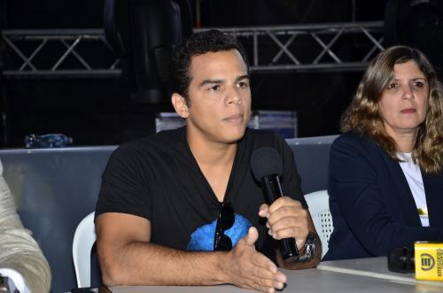 Saymon Diaz de SD Concerts explica que el concierto solo se ha aplazado, que la dinámica y el lugar es igual. (Foto: Selene Mejía/Soy502)