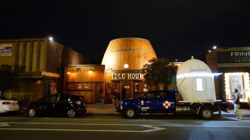 El museo hizo una parada en una cervecería. (Foto: Los Angeles Times)