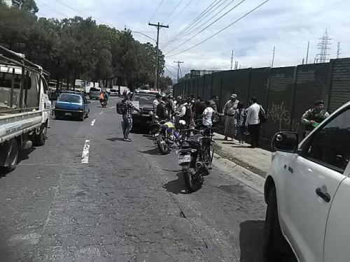 El operativo generó tráfico en el lugar. (Foto: Amílcar Montejo/PMT)
