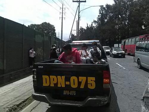 Los detenidos fueron llevados a la Torre de Tribunales. (Foto: Amílcar Montejo/PMT)