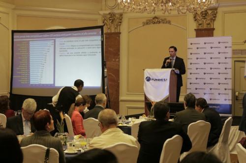 Presentación de los resultados de parte de Fundesa. (Foto: Alejandro Balán/Soy502)