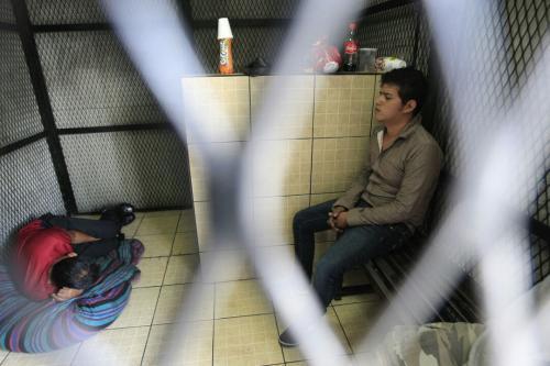 El señalado permanece en la carceleta del Juzgado de Femicidio que opera las 24 horas. (Foto: Wilder López/Soy502)
