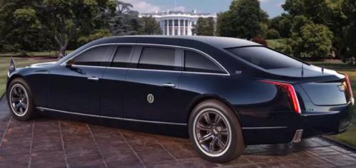 El nuevo vehículo presidencial fue inspirado por el Cadillac Escalade. (Foto: Infobae)