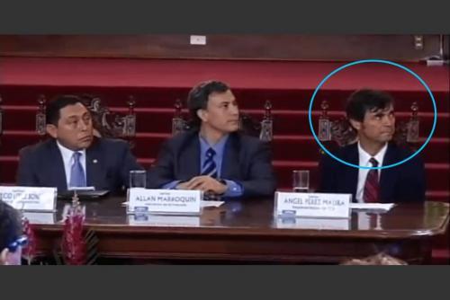 Pérez Maura en una reunión en el Palacio Nacional de la Cultura. (Foto: archivo/Soy502)