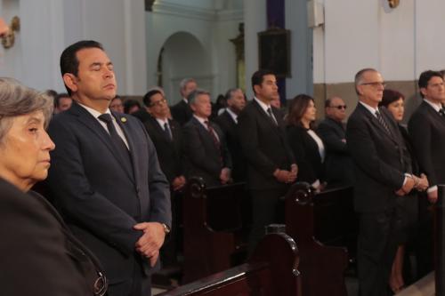 Al presidente Morales se le ha visto notoriamente preocupado (Foto: Archivo Soy502/Alejandro Balán)