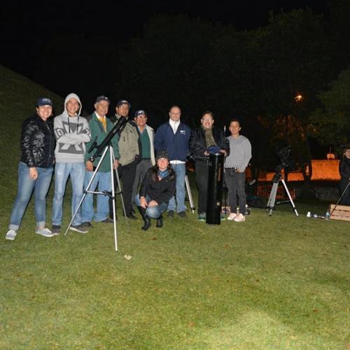 Integrantes de la Asociación Guatemalteca de Astronomía. (Foto: cortesía Edgar Castro Bathen)