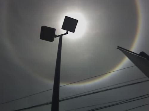 Así se ve un halo solar. (Foto: Cortesía Edgar Castro Bathen)