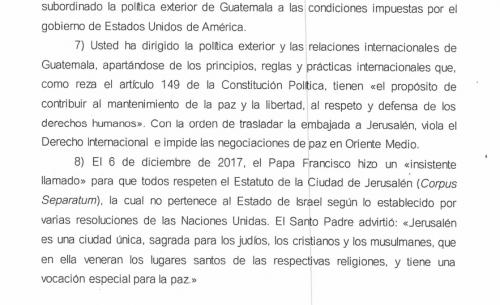 Esta es una fracción de la misiva de cuatro páginas que Marco Vinicio Mejía Dávila envió al presidente Jimmy Morales el 27 de diciembre de 2017. (Foto: Captura de pantalla)