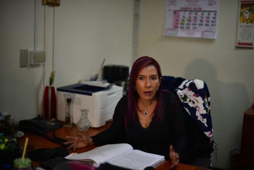 Nicté Ochoa es la secretaria de la Sala de Mayor Riesgo, donde se tramita el antejuicio contra el diputado Ricardo Villate. (Foto: Jesús Alfonso/Soy502)