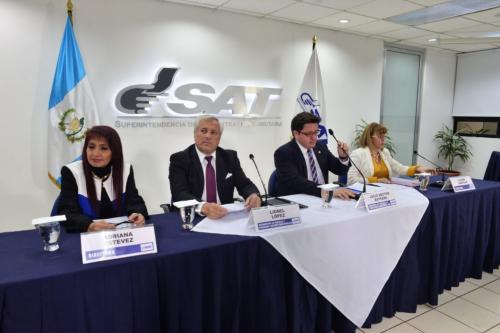 El Directorio de la SAT anunció la destitución del jefe de la SAT la noche de este miércoles. (Foto: Jesús Alfonso/Soy502)