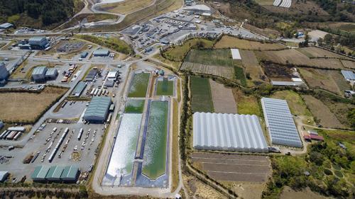 El tratamiento del agua que se realiza en la mina San Rafael está regido por el Acuerdo 236-2006 del MARN. (Foto: dron Soy502)