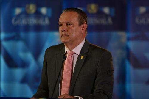 El ministro de Salud presentó los resultados de las pruebas sanitarias. (Foto: Jesús Alfonso/Soy502)