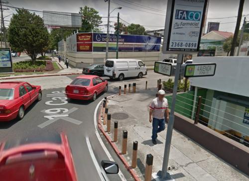 En la 19 calle hay un cruce obligado sobre la 4a avenida. (Foto: GoogleMaps)