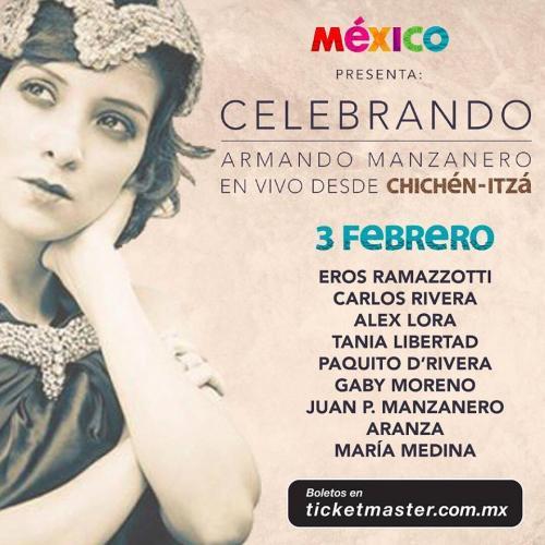 Afiche: Celebrando a Armando Manzanero.